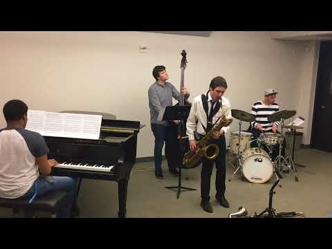 Dean Tsur playing Gerry Mulligan's saxophone
