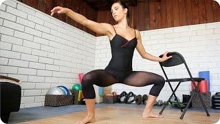 瘦大腿提臀的終極芭蕾運動 出處 Autumn Calabrese