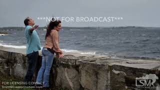 10-29-2017 New London, CT - Coastal Storm Wind on Long Island Sound