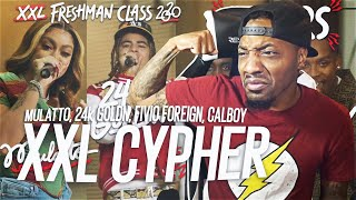 Fivio Foreign, Calboy, 24kGoldn and Mulatto's 2020 XXL Freshman Cypher (REACTION!!!)
