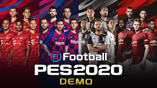 eFootball PES 2020 Demo Trailer: Teams and Stadiums available