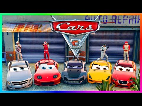 GTA ONLINE 'PIXAR: CARS 3 MOVIE' SPECIAL - LIGHTNING MCQUEEN, JACKSON STORM, CRUZ RAMIREZ & MORE!