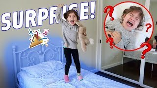 SURPRISING PENELOPE WITH A BRAND NEW BIG GIRL BED!!!
