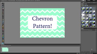 EASY Photoshop Elements Pattern Tutorial - How To Make A Chevron Pattern In Less Than 5 Minutes!