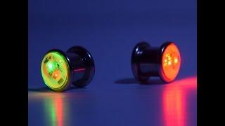 LED Light Up Ear Gauge Plug (Size: 10mm - 3/8- 00G)
