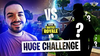 EPIC CHALLENGE VS RANDOM DUO - HE WAS ON CONTROLLER?! (Fortnite: Battle Royale)