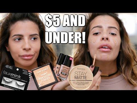 FULL FACE NOTHING OVER $5 | Drugstore Makeup Tutorial