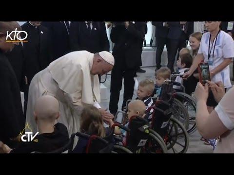 Résumé de la visite du Pape Francois à l'hopital pédiatrique de Cracovie-Prokocim