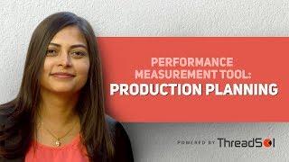 Herramientas de medición de desempeño: Planeación de producción