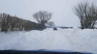 Driving in snow, January 2018, UK