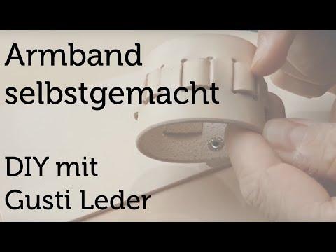 Uhrenarmband selbst gemacht | DIY | Armband | Arbeiten mit Leder | Tutorial | Gusti Leder