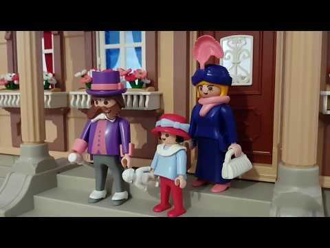 Playmobil Puppenhaus 5300 Nostalgie 1900 rosa Serie Unboxing Aufbau 5301 5302 5303 5305 Rarität