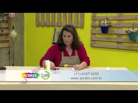 Acrilex - Artesanato - Papai Noel de biscuit