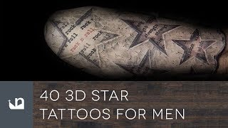 40 3D Star Tattoos For Men