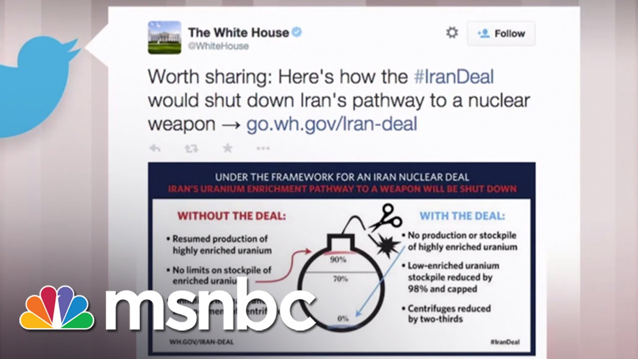 White House Trolls Netanyahu On Twitter | msnbc thumbnail