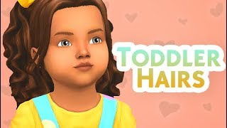 TODDLER HAIR ONLY! 31+ HAIRS W/LINKS | THE SIMS 4 // CC FINDS!