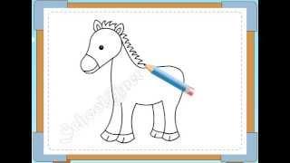 BÉ HỌA SĨ - Thực hành tập vẽ 57: Vẽ con ngựa