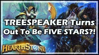 TREESPEAKER Turns Out To Be FIVE STARS?! - Rastakhan's Rumble Hearthstone