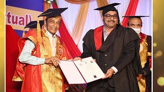 Dr. K Sai Manoj garu Receiving D.Sc From Srinivas University