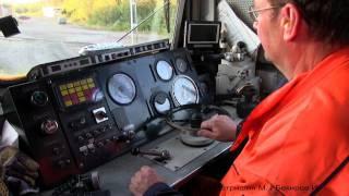 Тепловоз TMZ-1413 (Швеция) / TMZ-1413 diesel locomotive (Svaapavaara, Sweden)