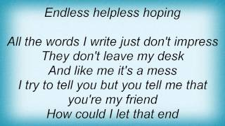 Josh Gracin - Endless Helpless Hoping Lyrics