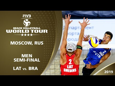 LIVE 🔴 - Men's Semi-Final 2 | 4* Moscow (RUS) - 2019 FIVB Beach Volleyball World Tour