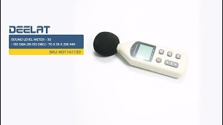 Sound Level Meter – 30 – 130 dBA (35-130 dBC) – 70 x 35 x 256 mm     SKU #D1141130