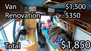 How to Build a Home Made Camper Van - Start to Finish DIY