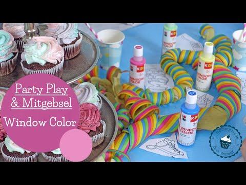 Party Idee   Window Color   Geburtstags-Hack   DIY   Mitgebsel   mommymade