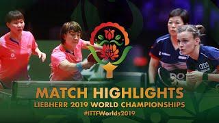 Chen Meng/Zhu Yuling vs Sarah Denutte/Lian Ni Xia   2019 World Championships Highlights (R32)