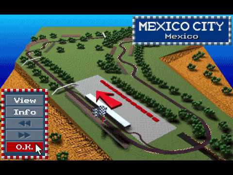 MicroProse Formula One Grand Prix Geoff Crammond Mexican Grand Prix Round 6 (F1 1991)