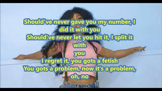 SZA Love Galore OnScreen Lyrics