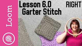 6.0 How To Loom Knit | Garter Stitch | Basic Dishcloth & Coasters Patterns (Right Handed)