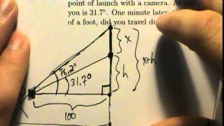 Trig Applications - Example 4 - Angle Of Elevation