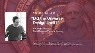 "Philip Goff: ""Did the Universe Design Itself?"""