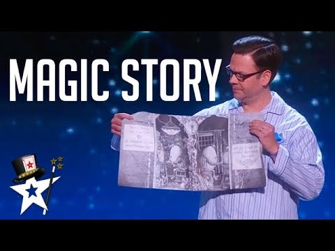 Magician Tells Judges A Story on America's Got Talent | Magicians Got Talent (видео)