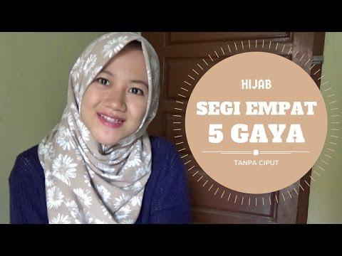 Video 5 Gaya Berhijab Segi Empat Tanpa Ciput Ninja | Sehari - hari #NMY Hijab Tutorials