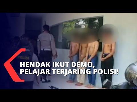 polisi amankan pelajar yang akan ikut demo di gedung dpr