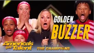 The Silhouettes: Alesha Dixon's FIRST Golden Buzzer Moves @America's Got Talent Champions To Tears