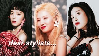 female kpop idols struggling with outfits