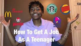How To Get A Job As A Teen | Applying & Interview Tips