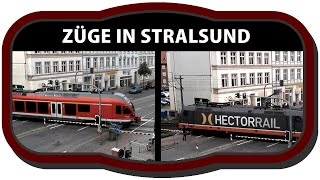 preview picture of video 'Züge - Eisenbahn - Stralsund - german trains'