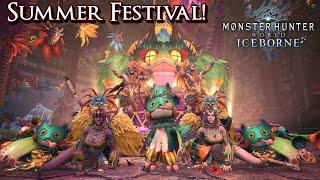 Monster Hunter World Iceborne - Summer Festival is Here!