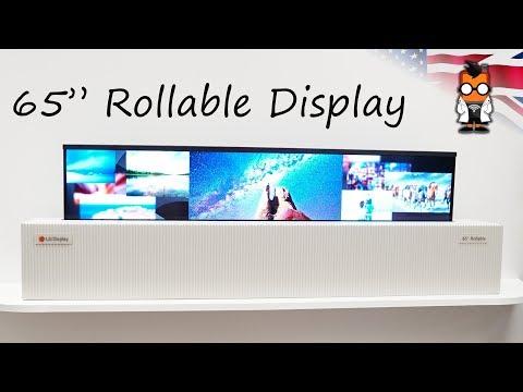 LG го претстави првиот телевизор во светот кој може да се свитка во ролна