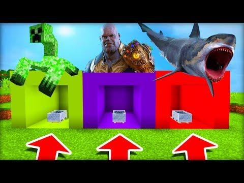 NEVYBER SI ŠPATNÝ VOZÍK V MINECRAFTU! (Creeper Boss, Thanos, Žralok)