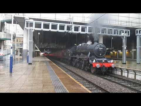 45690 'Leander' at Manchester Victoria with 'The Coast to Co…