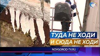 В Великом Новгороде складывается серьезная проблема с сосульками