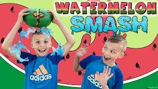 Watermelon Smash Challenge   Twin Vs Twin