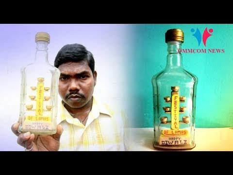 Innovative Diwali: Odisha Artist Sets Multi-Tiered Diya Inside Bottle