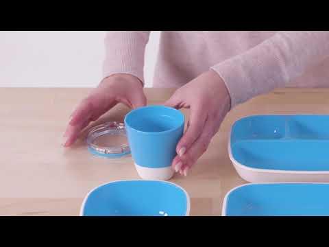 Munchkin набор посуды 7 предметов голубой.